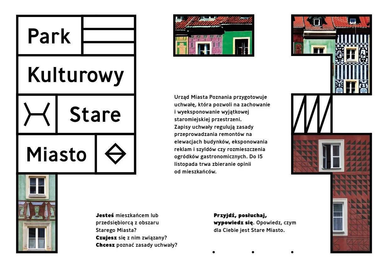 Plakat wystawy pt. Park Kultury w Poznaniu